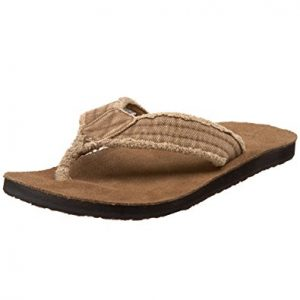 f64b5580eca2 Sanuk make a lot of really comfy sandals, one of their best the Men's Fraid  Not Flip flop is a particular favorite of many. It has a soft EVA footbed  with ...
