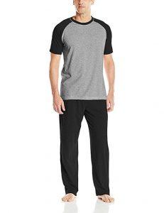 Hanes Men'sCotton Raglan Pajamas Set