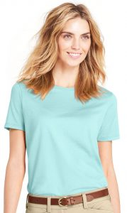 Land's End Women's Relaxed Supima Crewneck T-shirt