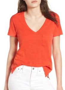 c0e913053069 The fashionable Whisper Cotton V-Neck Pocket Tee from Madewell is made from  a super soft, lightweight slub cotton (slub cotton has a little bit more  texture ...
