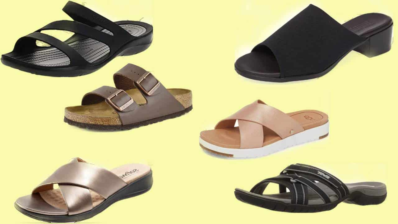 Six of the most comfortable women's slide sandals.