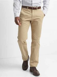 GAP Khakis in Straight Fit with GapFlex