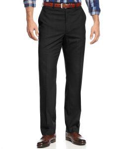 Michael Kors Men's Black Solid Classic-Fit Dress Pants