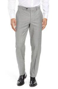 Ted Baker Jefferson Flat Front Wool Trousers