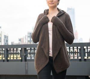 Betabrand Black Sheep Wrap Sweater