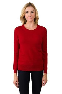 Jennie Liu Women's 100% Pure Cashmere Crew Neck
