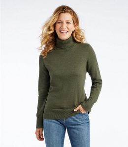 L.L Bean Cotton/Cashmere Turtleneck
