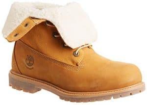 Timberland Women's Teddy Fleece Fold-Down Waterproof Boot