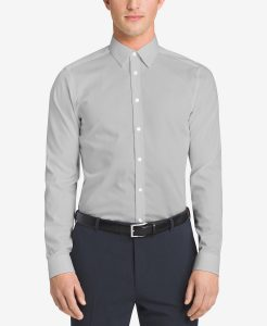 Calvin Klein Men's Slim-Fit Point Collar Dress Shirt