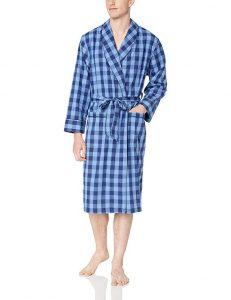 Nautica Long Sleeve Lightweight Cotton Woven Robe