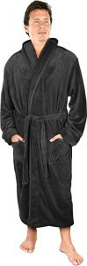 NY Threads Luxurious Men's Shawl-Collar Fleece Bathrobe