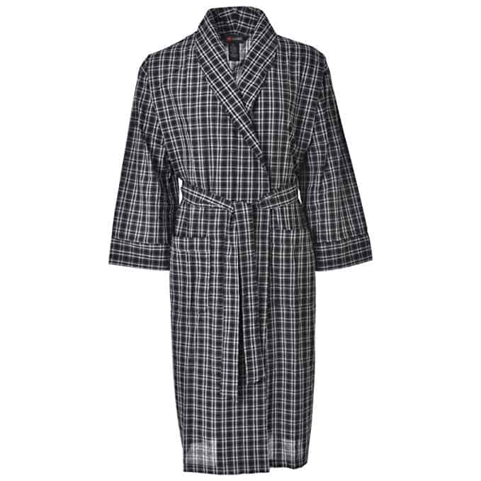 Hanes Lightweight Woven Broadcloth Robe