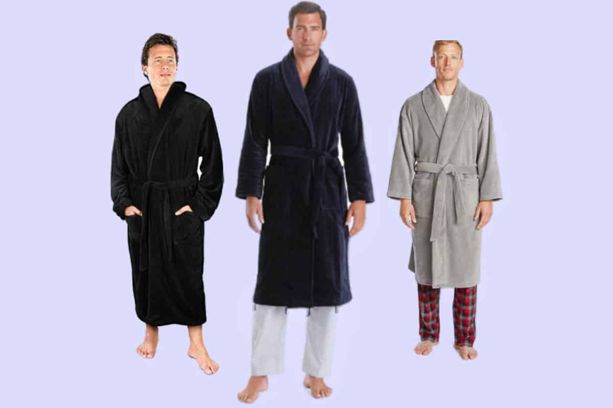 Three of the most comfortable plush robes for men