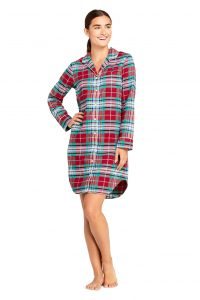 Lands' End Women's Long Sleeve Nightshirt