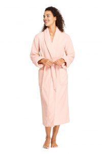 Land's End Women's Cotton Terry Long Bath Robe