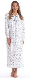 Patricia Lingerie Women's 100% Cotton Flannel Nightgown