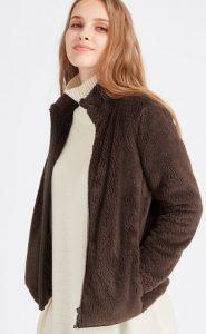Uniqlo Women Fluffy Yarn Fleece Full-zip Jacket