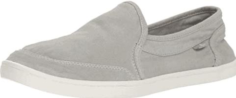 Grey Sanuk slip-ons
