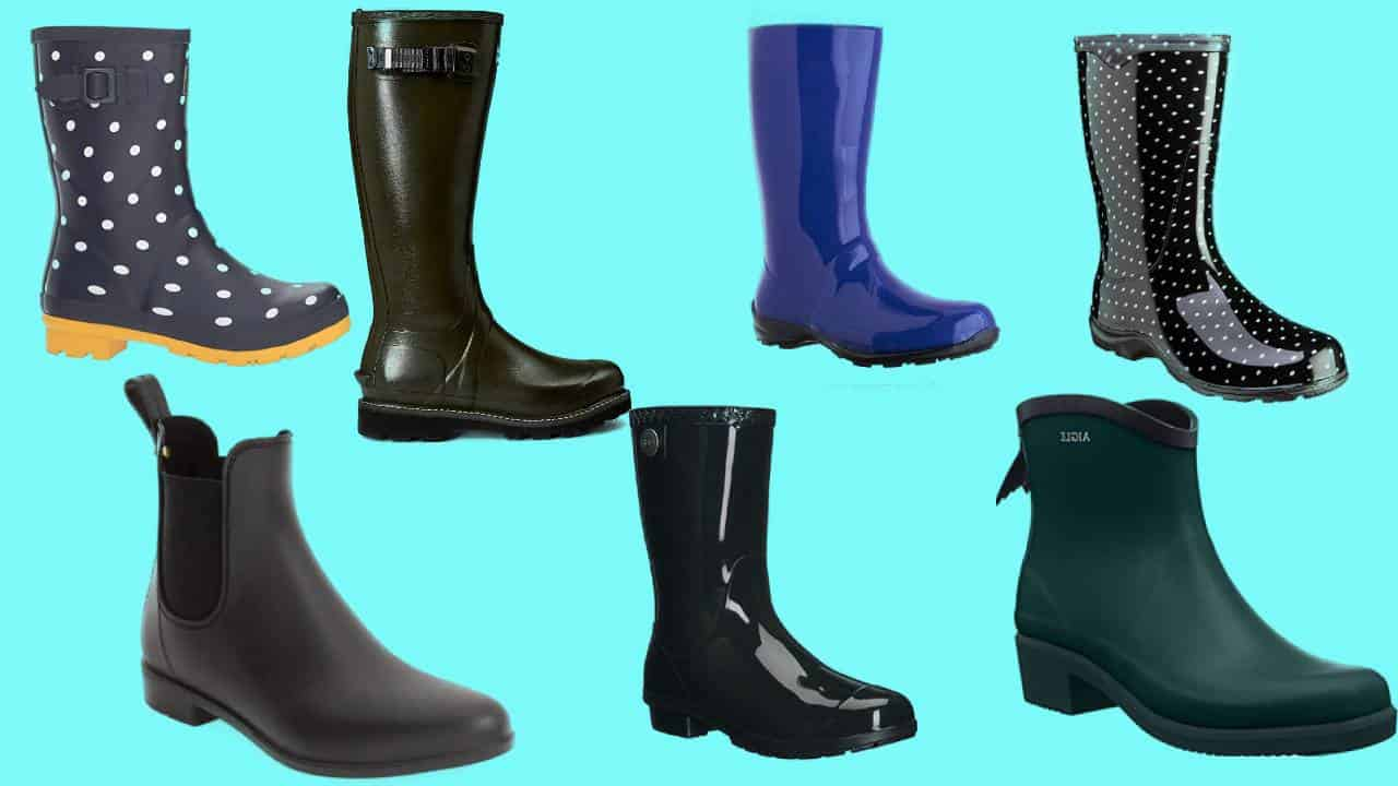 Seven rainboots that are highly rated for being comfortable