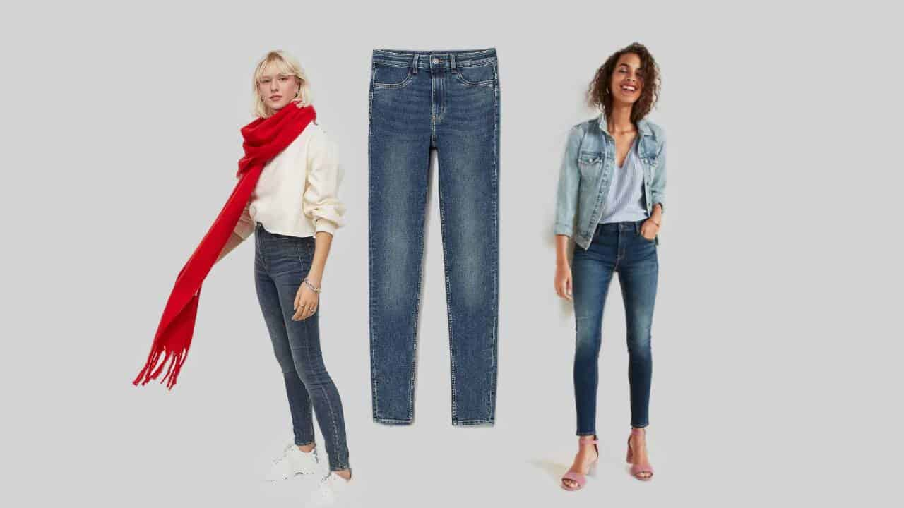 Three examples of the most comfortable skinny jeans for women