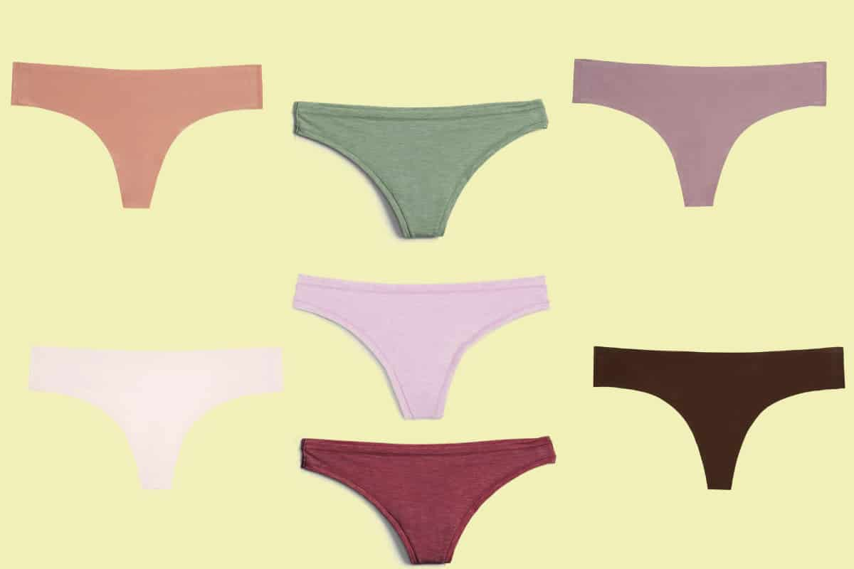 Seven of the most comfortable thongs in various colors