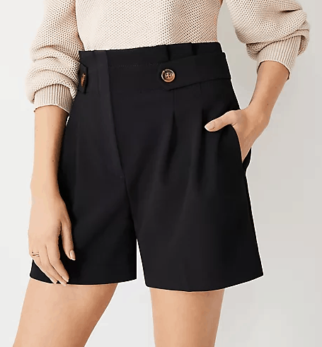 Black paper bag shorts
