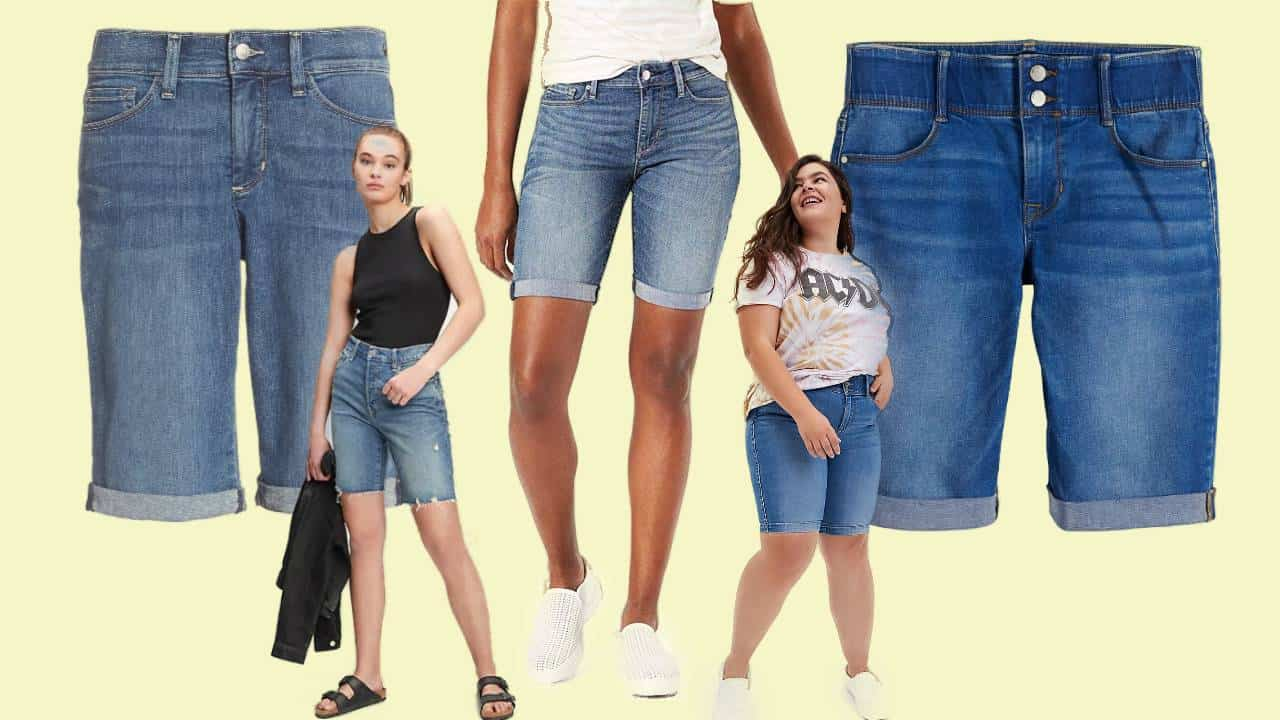 Five of the best and most comfortable denim bermuda shorts for women