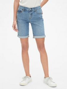 "Gap Mid Rise 9"" Denim Bermuda"
