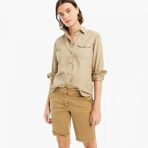 "J Crew 10"" Bermuda Stretch Chino Short"