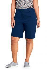 "Lands' End Women's Mid Rise 10"" Chino Bermuda"