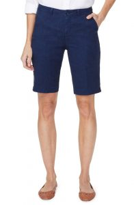 Stretch Linen Blend Bermuda Shorts from NYDJ