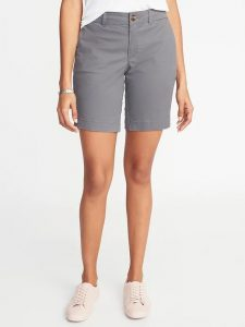 Old Navy Mid-Rise Twill Everyday Bermuda