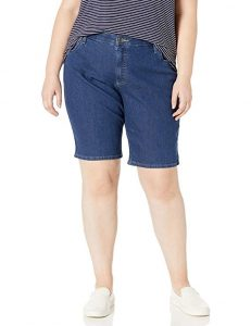 Riders by Lee Indigo Women's Plus-Size Comfort Waist Bermuda