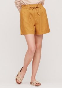 Uniqlo Women Linen Cotton Relaxed Shorts