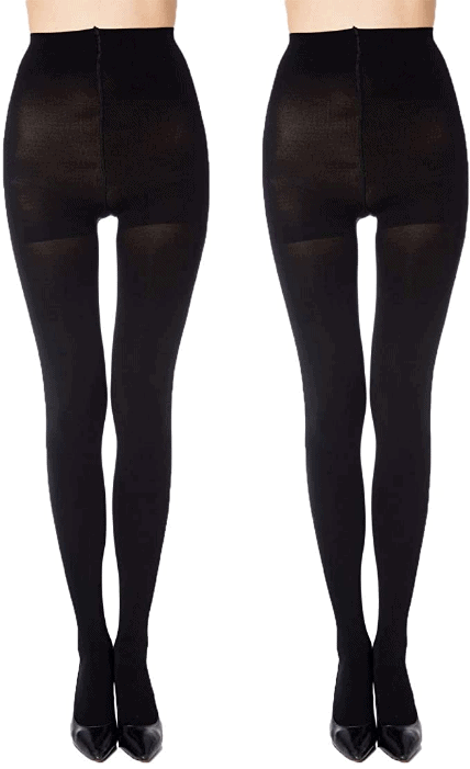 Manzi Run Resistant Control Top Panty Hose Opaque Tights