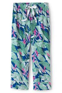 Lands' End Women's Crop Cotton Pajama Pants
