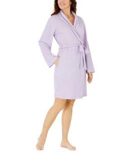 Charter Club Shawl-Collar Wrap Robe