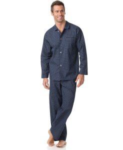 Club Room Navy Check Shirt and Pants Pajama Set