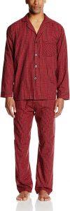 Hanes Woven Plain-Weave Pajama Set