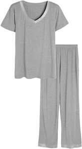 Latuza V-Neck Short Sleeves Top with Pants or Shorts Pajama Set