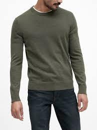Banana Republic Men's Italian Merino Crew-Neck Sweater