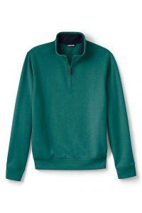 Lands' End Men's Bedford Rib Quarter-Zip Sweater