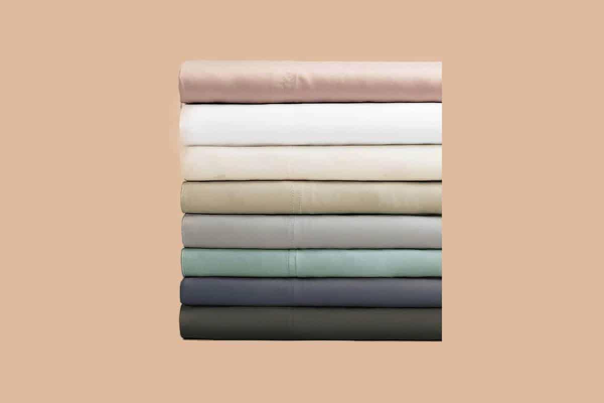 Most comfortable bamboo sheets stacked