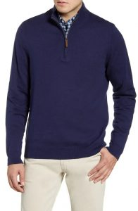 Nordstrom Half Zip Cotton & Cashmere Pullover Sweater