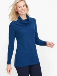 Talbots Cashmere Cowlneck Tunic