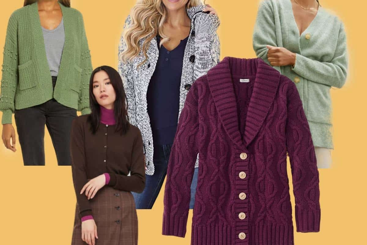 Different models in the most comfortable cardigans for women.