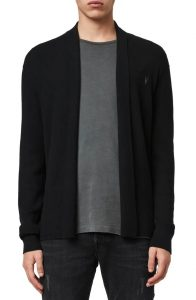 AllSaints Mode Slim Fit Wool Cardigan