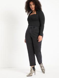 ELOQUII Crop Stretch Mom Jeans