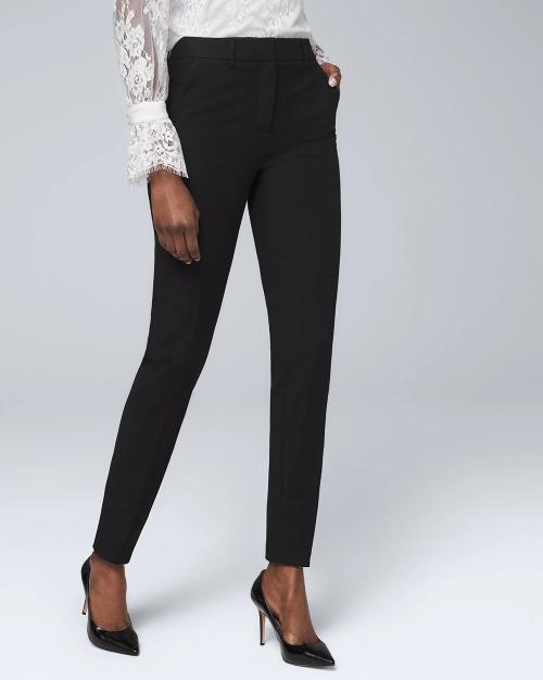 Slim fit black stretchy pants