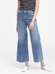 Banana Republic High-Rise Wide-Leg Cropped Jeans